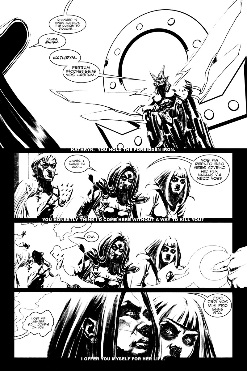 Issue 3, Page 12 - Oberon, the Conceited Douche.
